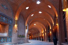 Caravanserai of Sa d al-Saltaneh was built at the instigation of Sa d al-Saltaneh (died in 1907 AD), the then Qajar governor of Qazvin.Caravanserai of Sa d al-Saltaneh is the biggest urban caravanserai in Iran and one of the few Iranian caravanserais that contains several bathrooms, saray, arcade, shotor khan, chahar souq, Rasteh, mosque, tea house and so on. This caravanserai functioned as a trade house